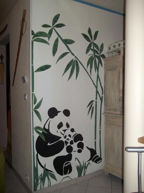 comment dessiner sur un mur de chambre #13: motif dessin sur mur ... - Comment Dessiner Sur Un Mur De Chambre